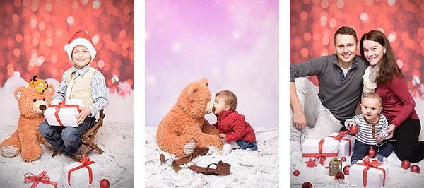 Zimní portrétní fotografie vateliéru, fotografování rodičů sdětmi