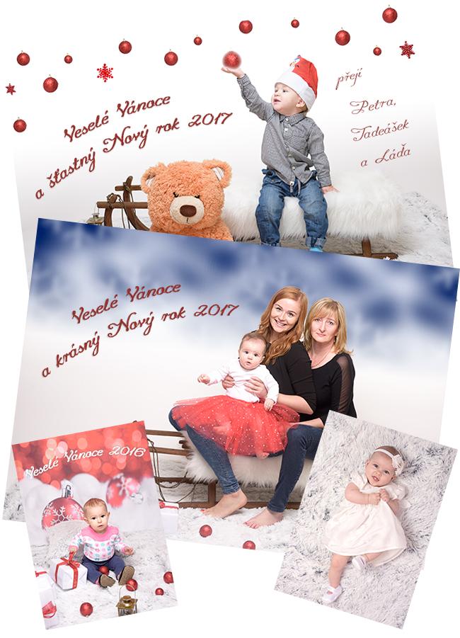 Ateliér Valašské Meziříčí - portrét zima 2016, fotografování rodičů sdětmi